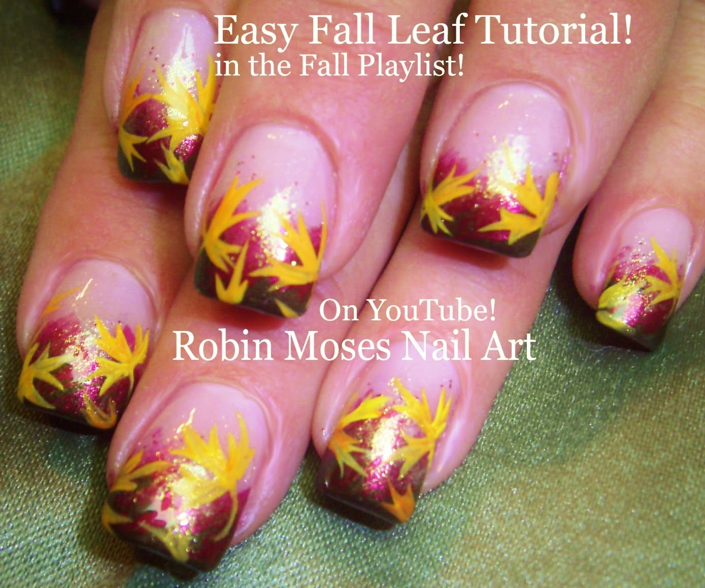 "Robin Moses Nail Art Designs: Robin Moses Nail Art: ""fall Leaves"" ""fall Nails"" ""fall"