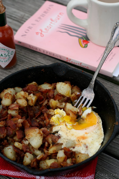 <b>Bacon Hash</b> <i>...inspired by Nora Ephron&#39;s Heartburn</i> {cook the books}
