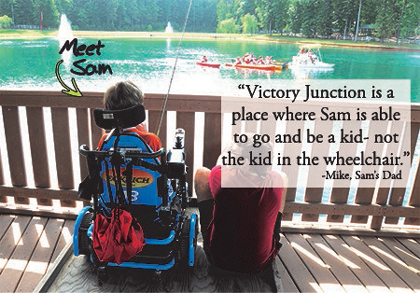 Meet Sam Victory Junction Camper
