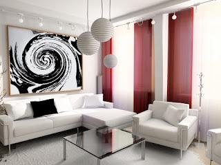 Decoração de salas pequenas sofás