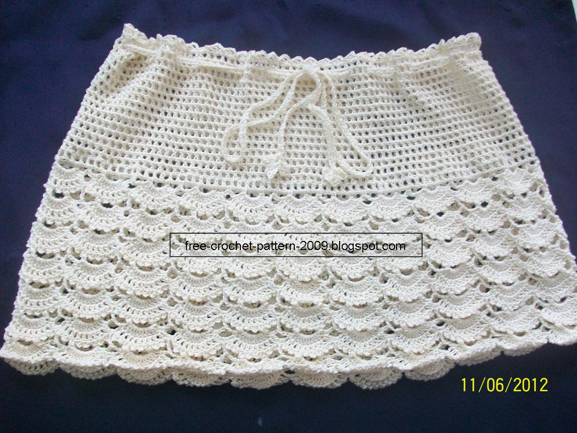 Crochet Patterns Skirt : You may get the updated Cream Skirt pattern HERE.