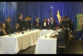 Pence al exilio: No permitiremos que Venezuela se desmorone