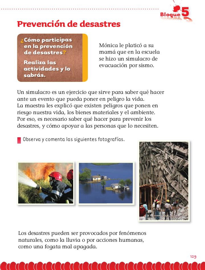 Prevención de desastres exploración de la naturaleza 2do bloque 5/2014-2015