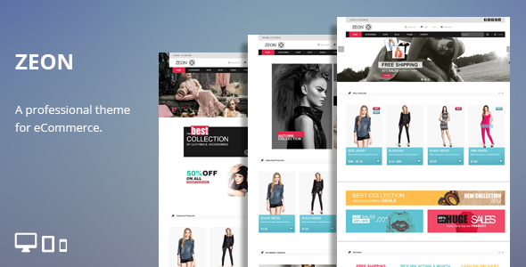 Free Download Zeon - eCommerce HTML Theme   Free Website Templates ...