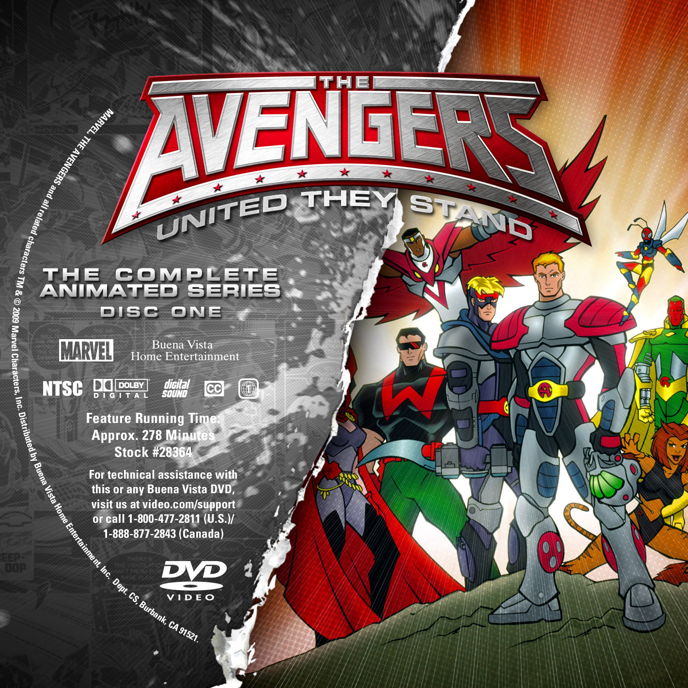 Label DVD The Avengers United They Stand Disc One