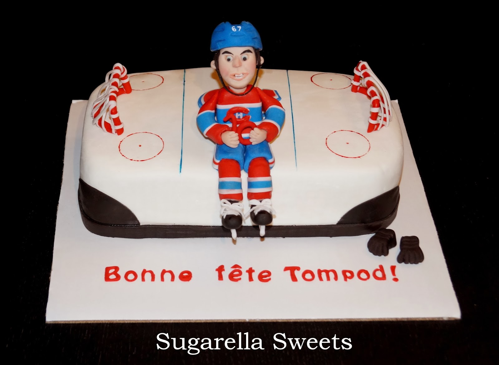 how to make a fondant hockey net