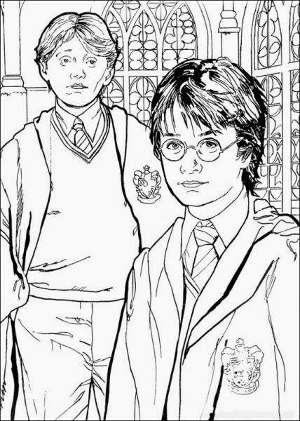 harry potter rony e hermione jogos para crianças de pintar