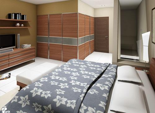 Dekorasi Interior Kamar Tidur Minimalis 2014