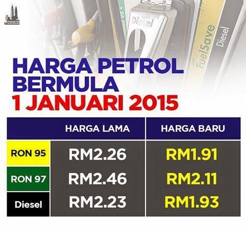 berapa harga petrol ron 95 ron 97 2015, GAMBAR PETROL MINYAK TURUN 2015