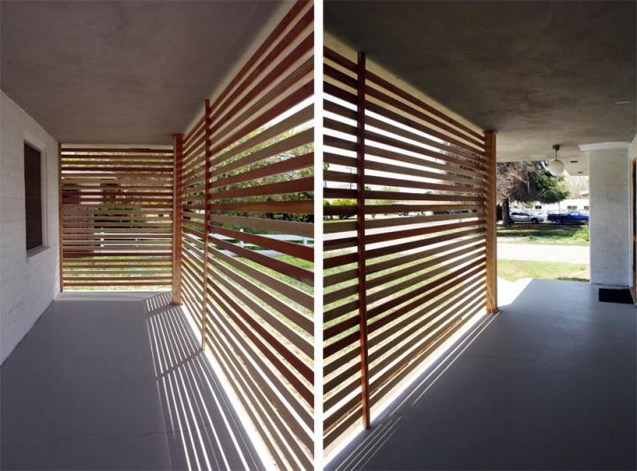 Diy una pared de listones de madera para el porche - Listones de madera ...