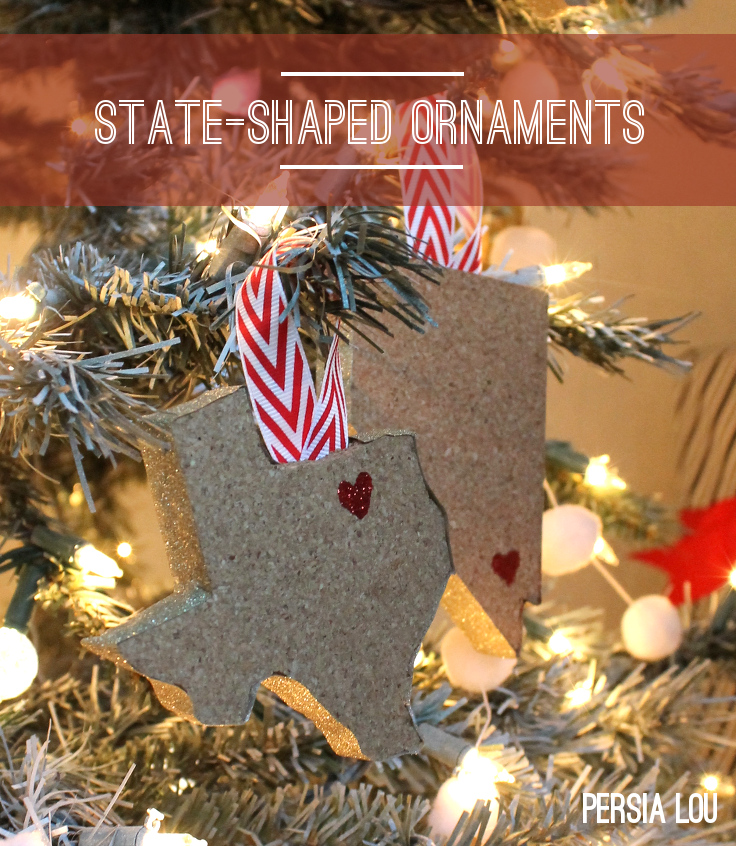 State-Shaped Christmas Ornaments: Random Crafts Of Kindness