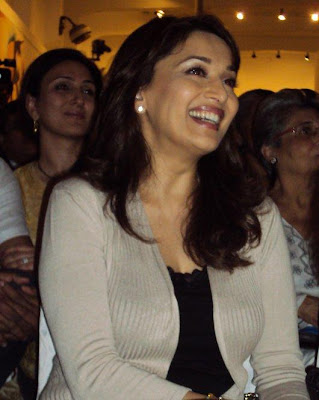 Madhuri Dixit at a memorial for MF Hussain