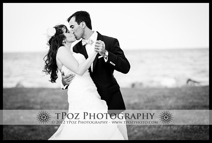 Glamorous bridal photos at Gibson Island Club