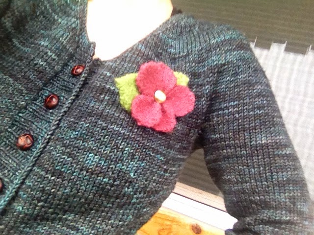 Vintage knits and brooches