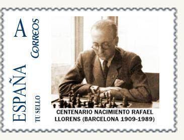 Sello de Correos de Rafael Llorens, emitido por la FNMT