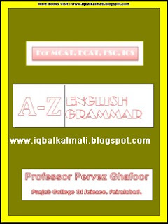 English Grammer Notes by Professor Pervez Ghafoor