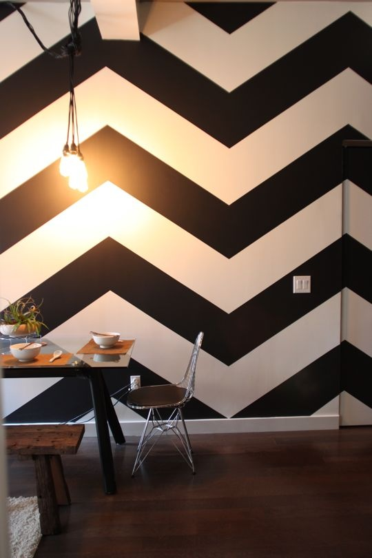 Good Style: Painted Walls: Chevron