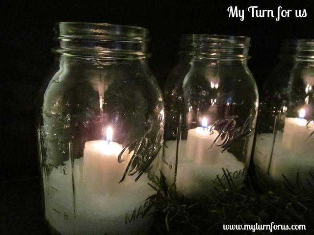 How to make easy mason jar luminaries for Making luminaries