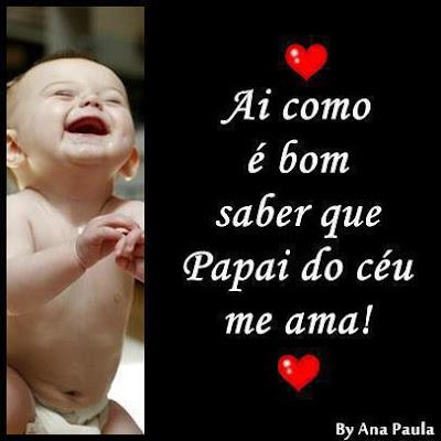 Mensagens para Facebook e Imagens que Eu Sei que Papai do Céu me Ama