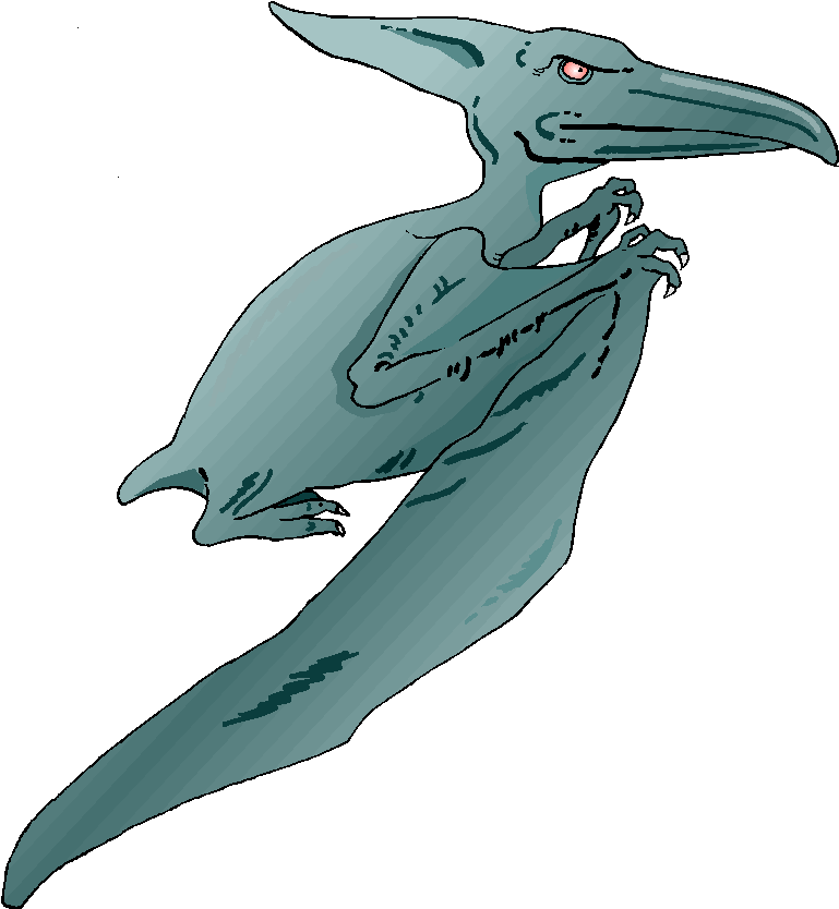 Angry Blue Pteranodon Free Clipart