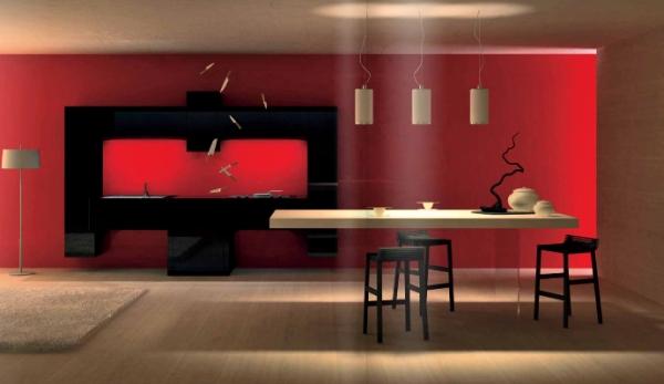 Cuisine design noir pour gamer par un cuisiniste de Rouen