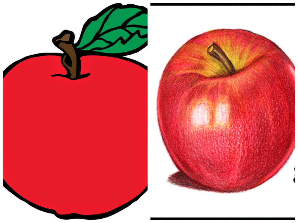 Apa Warna Apel Pasti kamu akan menjawab warna Merah kan Tapi jika kamu menggambar apel bisa saja hanya dengan pesil berwarna merah tapi akan lebih