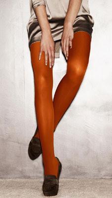 medias color naranja Calzedonia