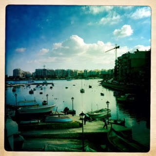 Hipstamatic, Photography, iPhone, 5C, Blue, Malta, St.Julians