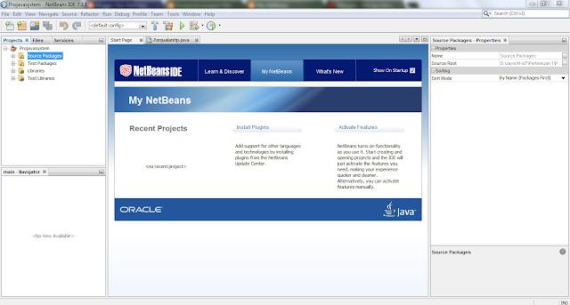 Ini adalah gambar awal dari program Java/NetBeans