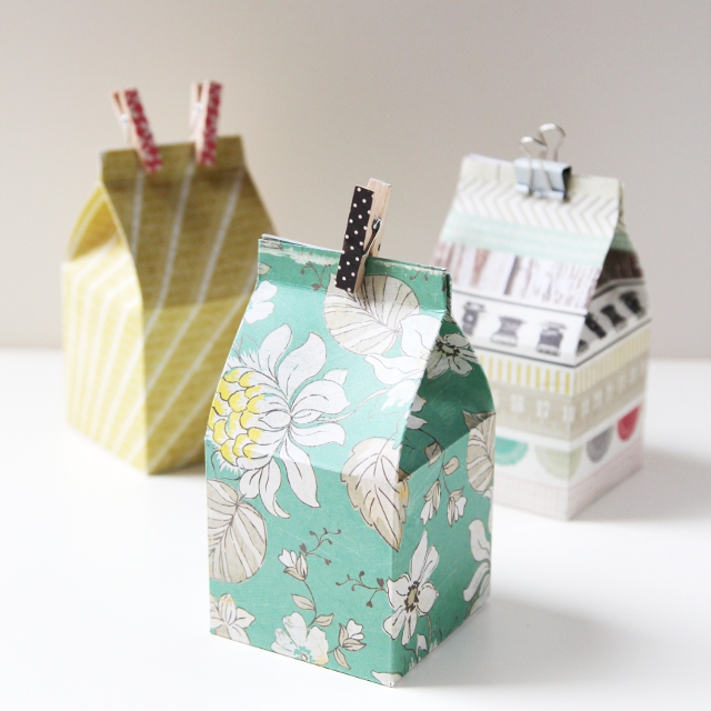 DIY MINI MILK CARTON GIFT BOXES. Gathering Beauty