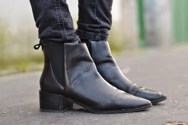 boots noir zara acne jensen like