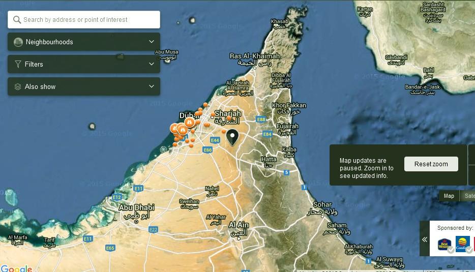 Funtours Desert Safari Dubai Map Dubai Tourists Destinations and – Dubai Tourist Attractions Map