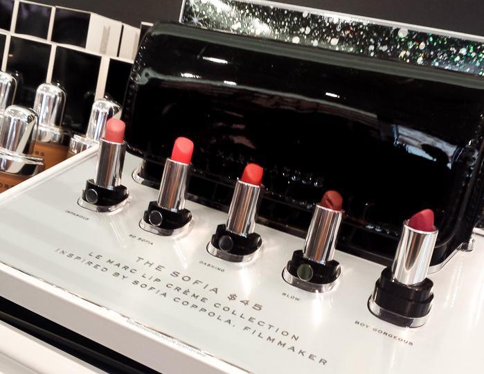 Marc Jacobs The Sofia Five Piece Petites Le Marc Lip Crème Collection Swatches Holiday 2015 Makeup Gift Set