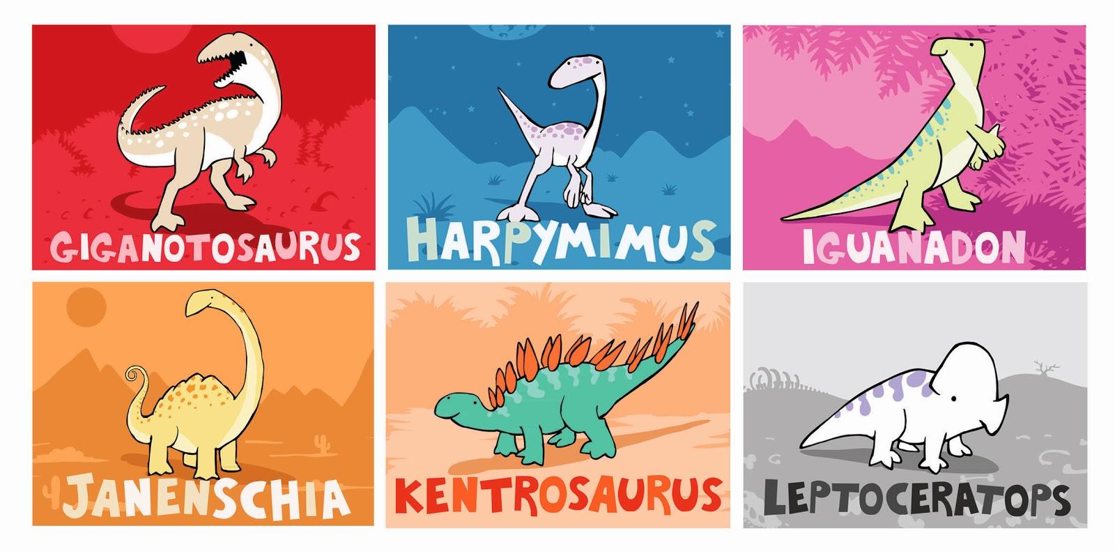 Giganotosaurus Harpymimus Iguanadon Janenschia Kentrosaurus Leptoceratops