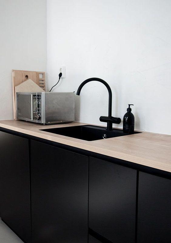 La fabrique d co evier de cuisine marbre bois mati res brutes ou raffi - Evier cuisine design ...