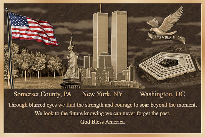 in memory of 911 Patriot day is observed on september 11th in memory of the 2,993 people who lost their lives in the september 11, 2001 attacks on the united states on that day, two hijacked airplances crashed into the twin towers of the world trade center in nyc.