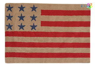 Alfombra lavable Flag American