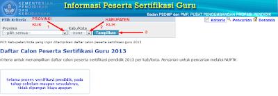 Pengumuman Lulus Sertifikasi 2013