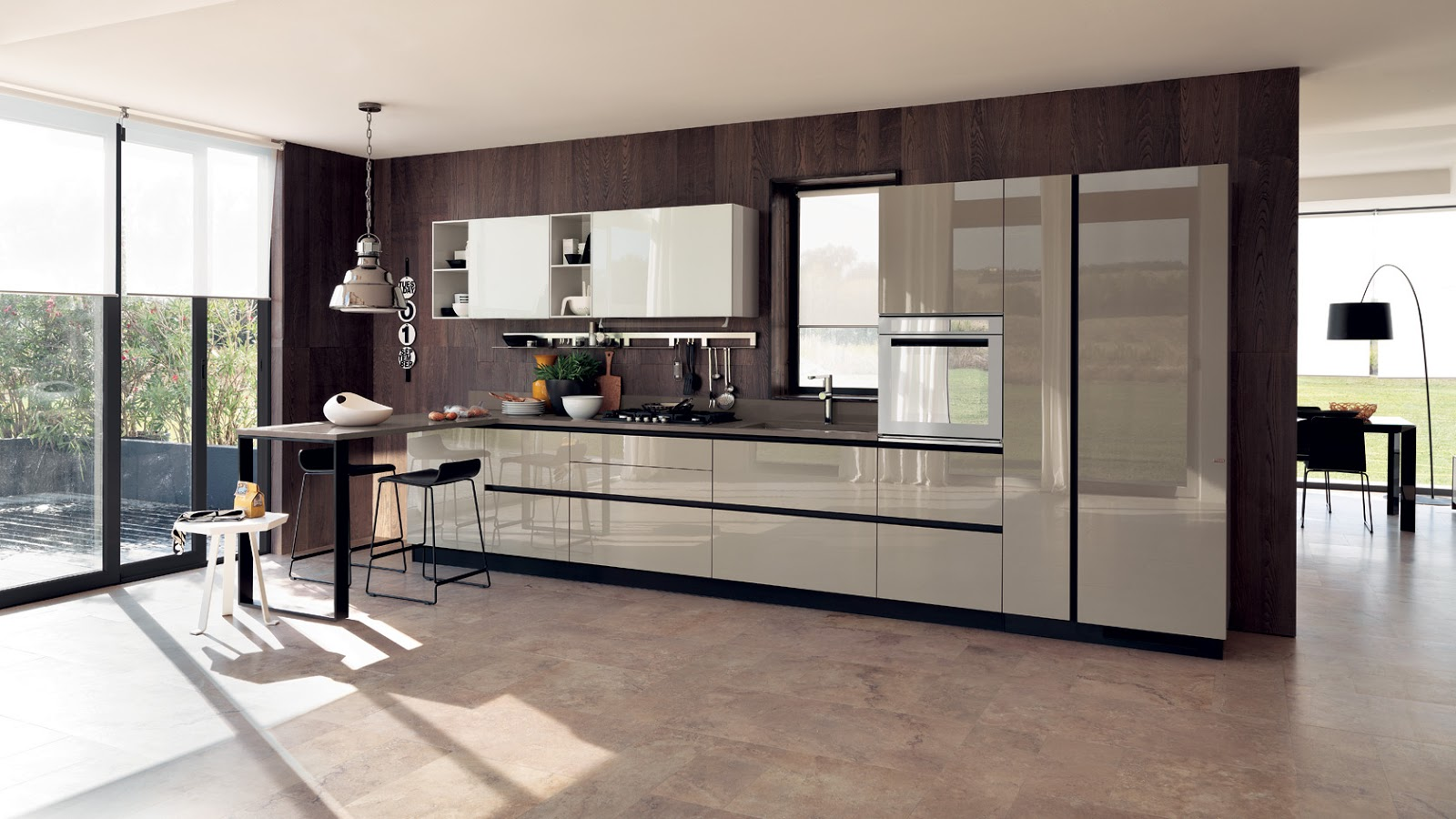 Hermosos dise os de cocinas modernas colores en casa for Disenos de cocinas pequenas modernas
