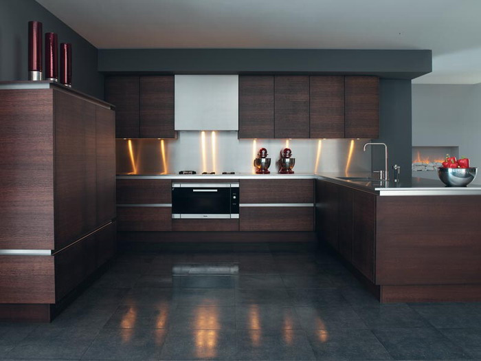 Modern kitchen cabinets designs latest an interior design - Modern kitchen ideas with brown kitchen cabinets ...