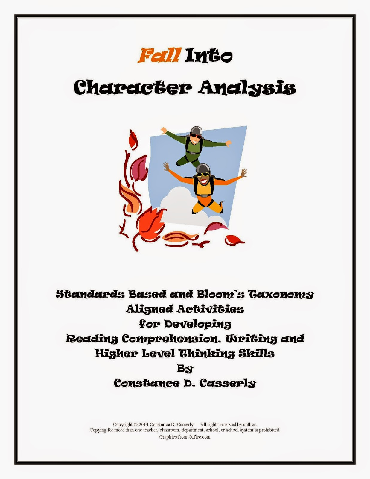 Middle School and High School Comprehension and Writing Activities