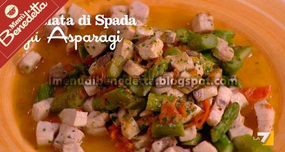 Dadolata di Spada con Asparagi di Benedetta Parodi