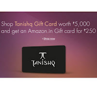 Shop Tanishq Gift card on Rs. 5000 and get  Amazon Gift card For Rs. 250 : Buytoearn