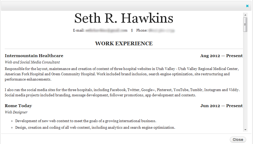 WotW: Boost Your Cred with a Slick Resume - Housewife Eclectic