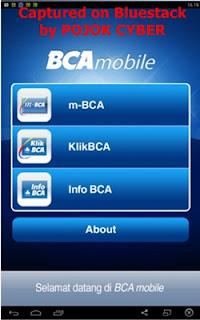 Tampilan BCA Mobile