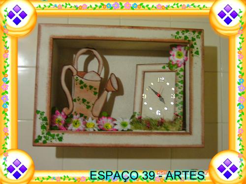 Espa o 39 artes e artesanato arte em pintura decorativa for Pintura decorativa efeito 3d