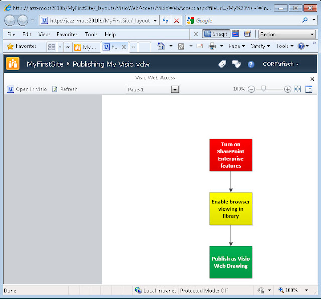 visio 2010 open in web browser