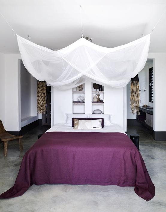 Fotos de dormitorios morados violetas lilas decoracion for Ideas de recamaras
