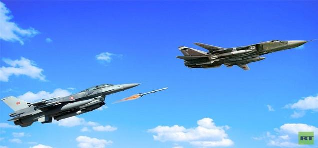 """الكشف عن السبب لذي منع الطائرة الروسية من حماية نفسها أمام مقاتلات """"إف-16"""" التركية"""