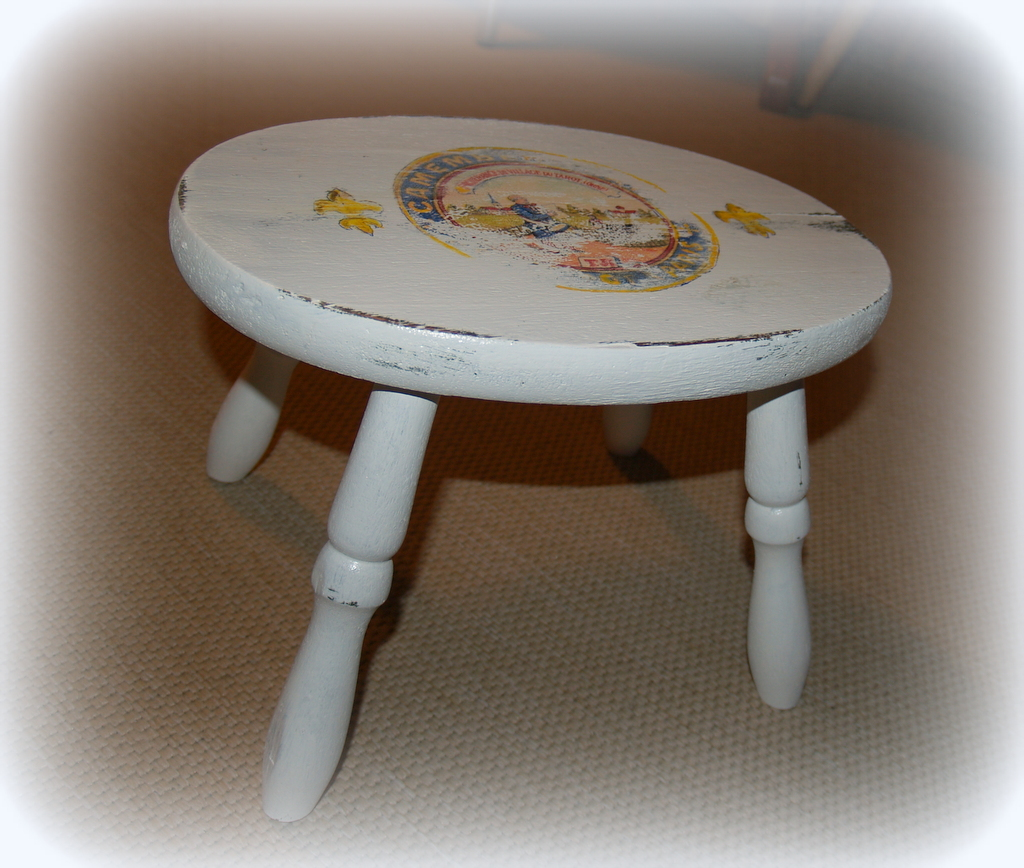 Crafty Home Cottage Milking Stool Make Over